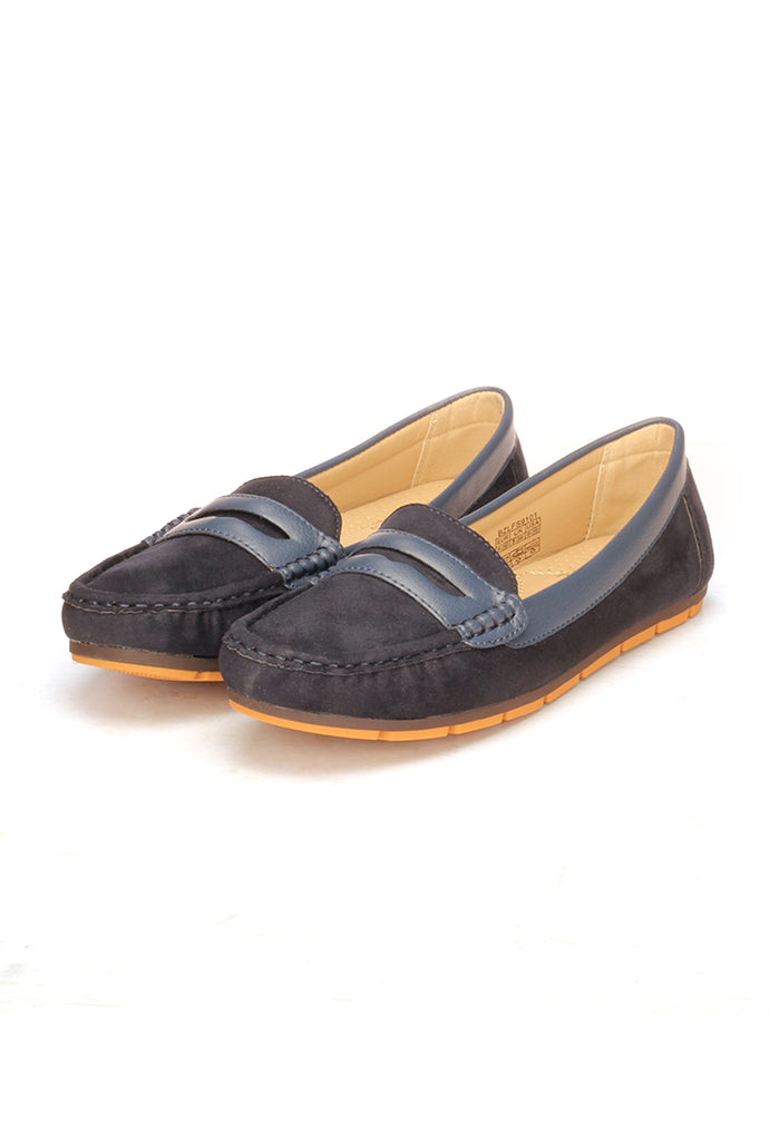 Stylish Textile Slip-on Loafers for Women