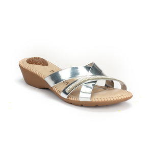 Women's Sandals - Silver - Open Mules - Pavers England
