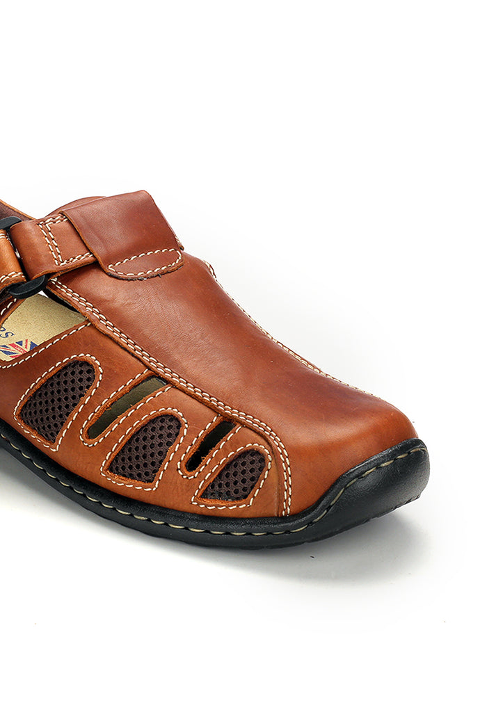 Men's Causal & Comfortable Sandal - Brown - Sandals - Pavers England