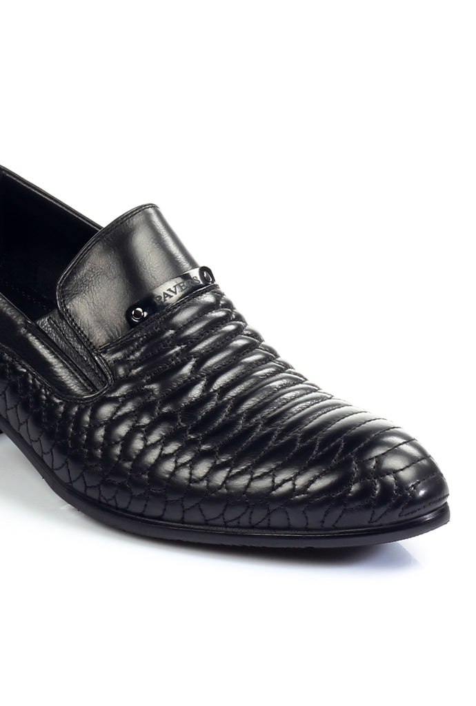 Men's Loafers - Black - Wedding & Occasion - Pavers England