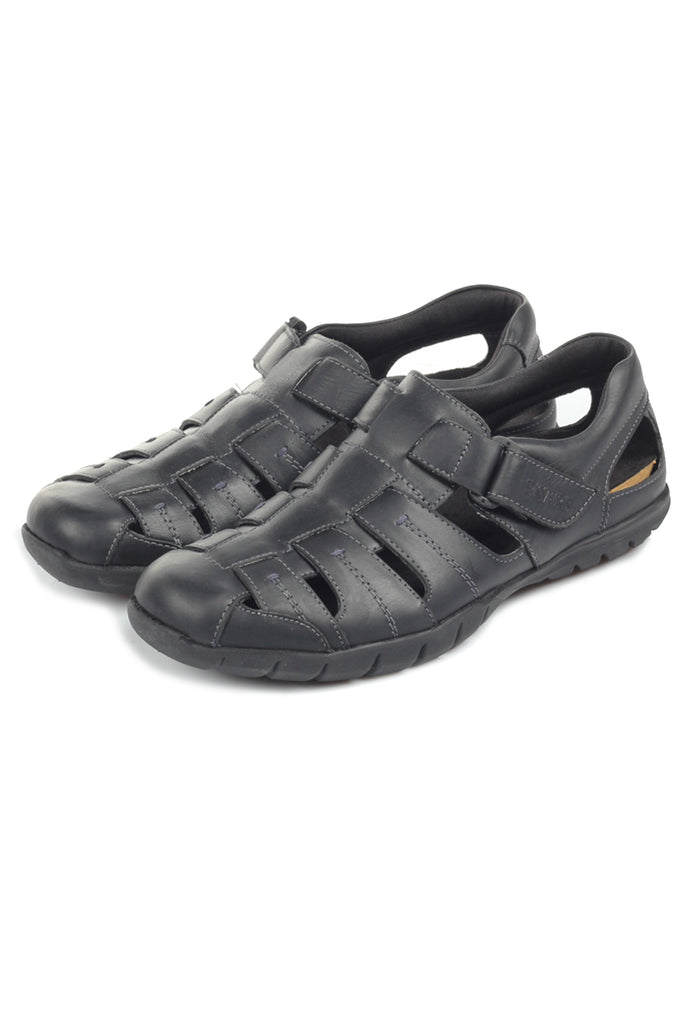 Men's Sandal - Black - Sandals - Pavers England
