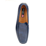 Comfortable Mens Driving Shoe - Navy - Smart Casuals - Pavers England