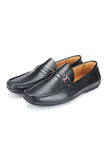 Textured Loafers for Men - Black - Smart Casuals - Pavers England
