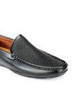 Textured Moccasins for Men - Black - Moccasins - Pavers England