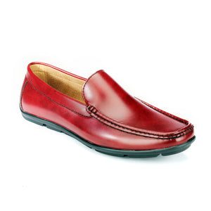 Comfortable Mens Driving Shoe - Burgundy - Smart Casuals - Pavers England