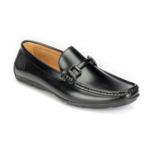 Cut and Sew Bit Loafers-Black