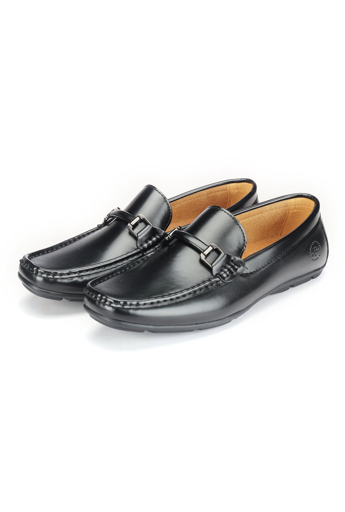 Cut and Sew Bit Loafers - Black - Smart Casuals - Pavers England
