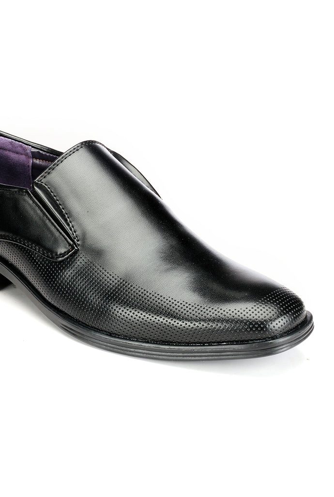 Cut Sew Penny Loafers -  Black - Formal Loafers - Pavers England