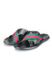 Men's Flip Flop - Green - Open Toe - Pavers England