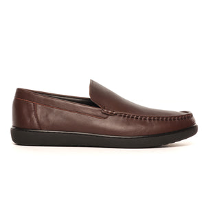 Modish Work-Wear Shoe - Brown - Slip ons - Pavers England