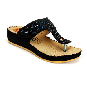 Embellished Toepost for Women-Black - Toeposts - Pavers England