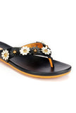 Chic Floral Toepost for Women - Black - Toeposts - Pavers England
