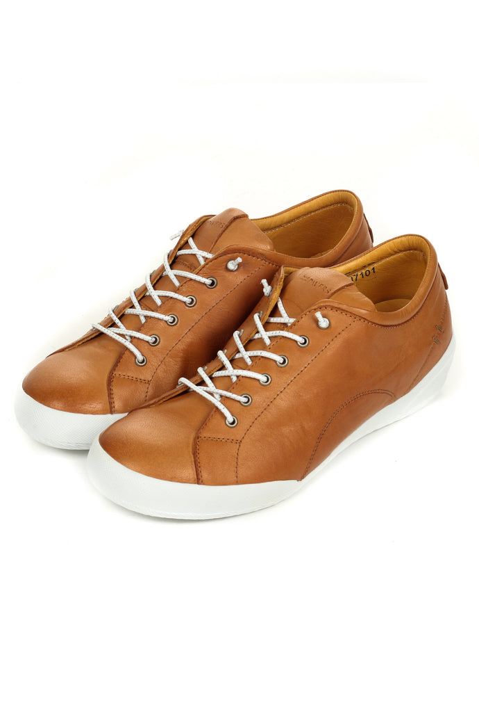 Women's Lace-up - Tan - Sneakers - Pavers England