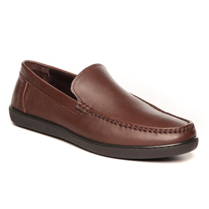 Modish Work-Wear Shoe - Brown - Moccasins - Pavers England