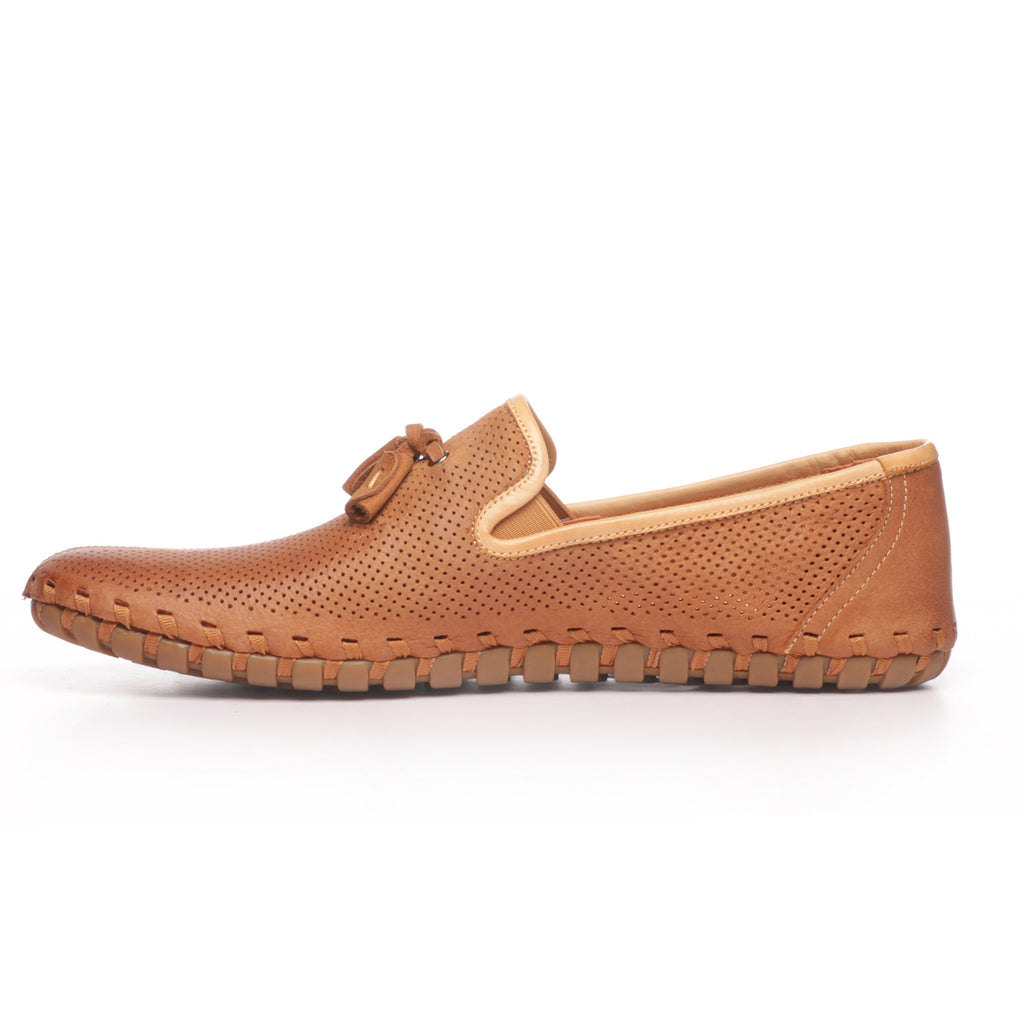 Men's Loafers - Tan - Moccasins - Pavers England