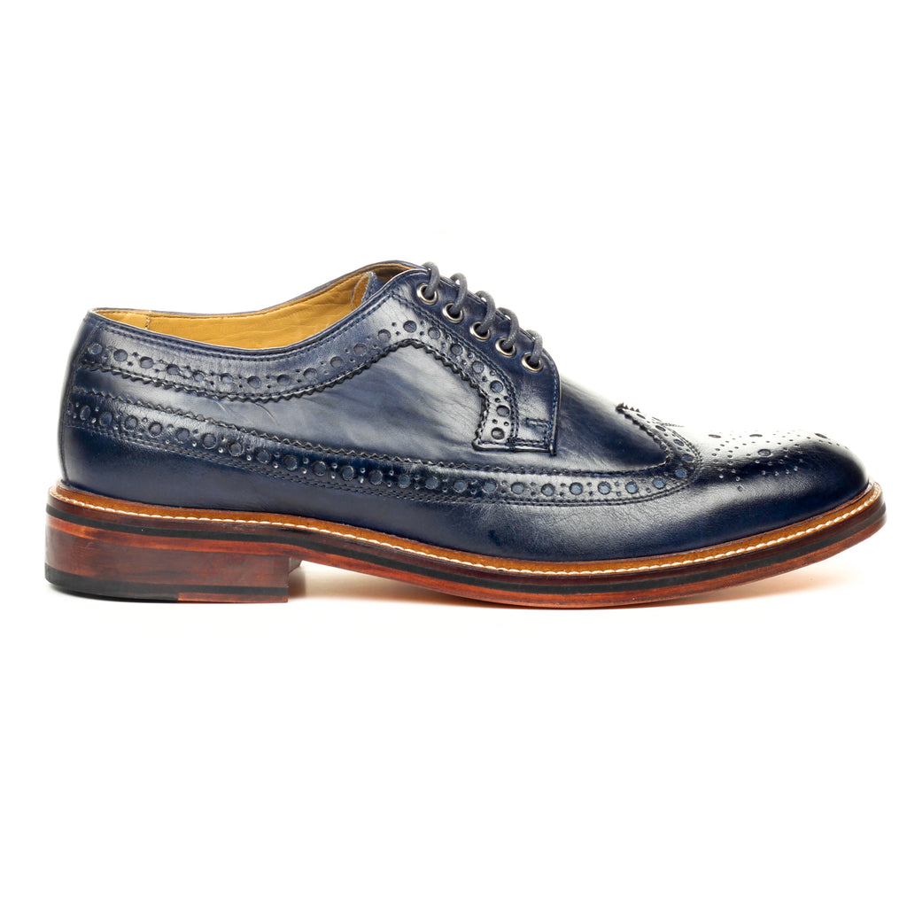 Men's Shoe Lace-up - Navy - Laced Shoes - Pavers England