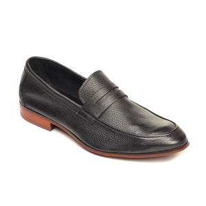Men's Slip-on Shoe-Black - Slip ons - Pavers England