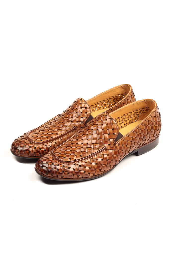 Men's Slip-on Shoe - Tan - Wedding & Occasion - Pavers England