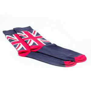 Cotton Socks - Navy & Red - Bags & Accessories - Pavers England