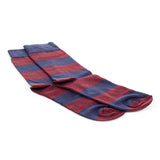 Patterned Cotton Socks Men - Burgundy - Bags & Accessories - Pavers England