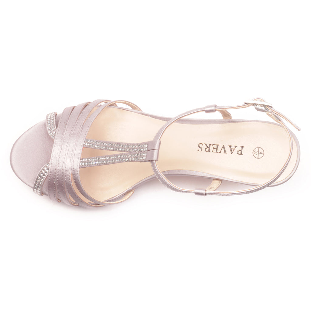 Women's Sandal - Silver - Wedding & Occasion - Pavers England
