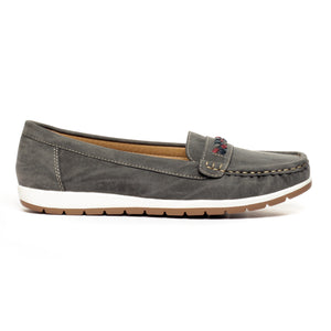 Loafers for Women-Grey