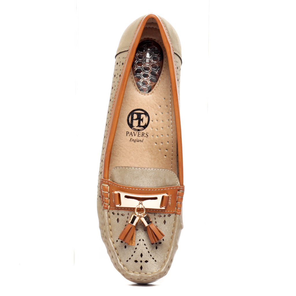 Laser Cut & Sew Loafers for Women