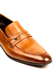 Leather Slip-ons for Men - Tan - Formal Loafers - Pavers England
