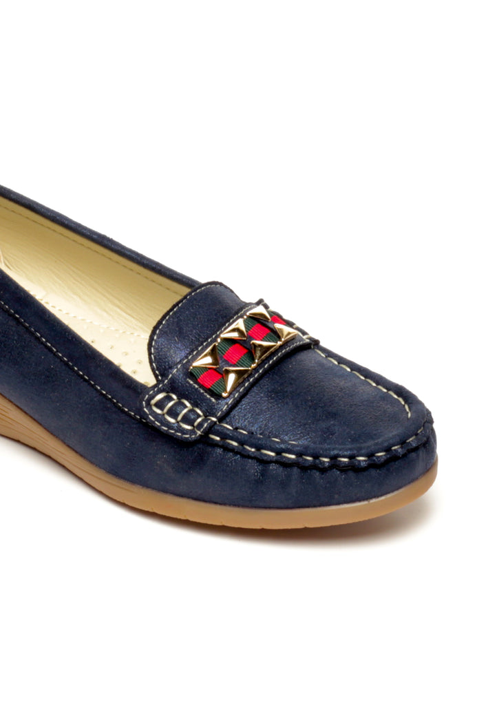 Metal Embellished Loafers for Women
