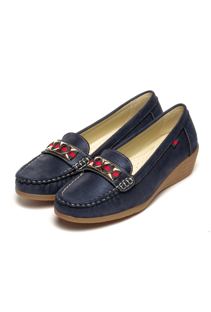 Metal Embellished Loafers for Women - Full Shoes - Pavers England