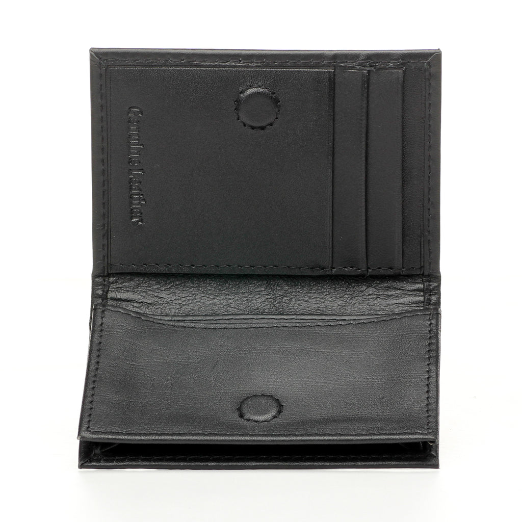 Premium Leather Card Holder for Men - Black - Bags & Accessories - Pavers England