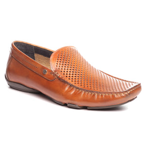 Laser cut slip-on casual Moccasin