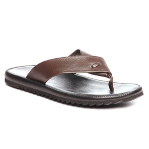 Trendy Leather Toe Posts for Men-Brown - Toeposts - Pavers England