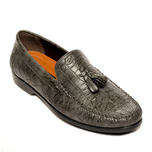 Men's Tassel Loafers - Grey - Wedding & Occasion - Pavers England