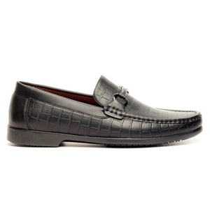 Casual Bit Loafers for Men-Black