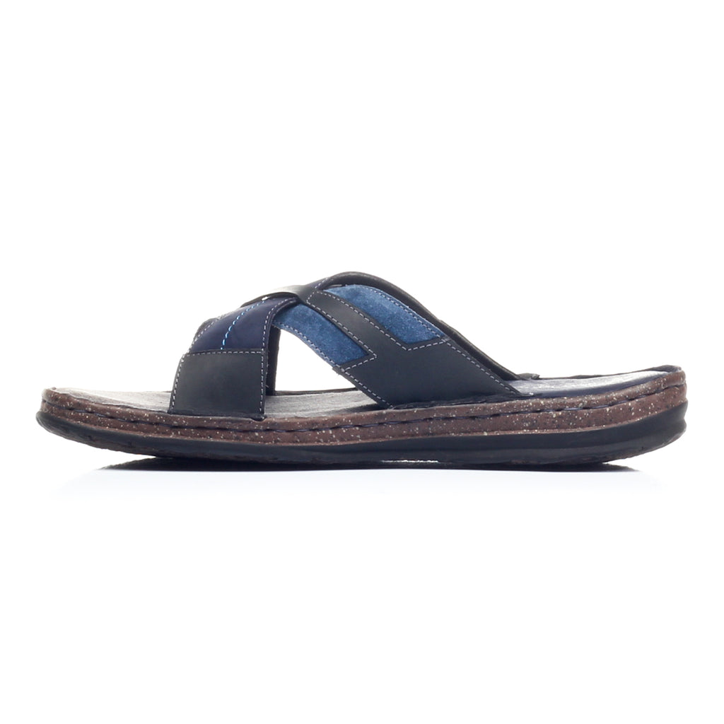 Men's Mule - Navy - Open Toe - Pavers England