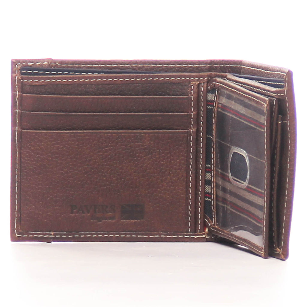 Textured Leather Wallet for Men