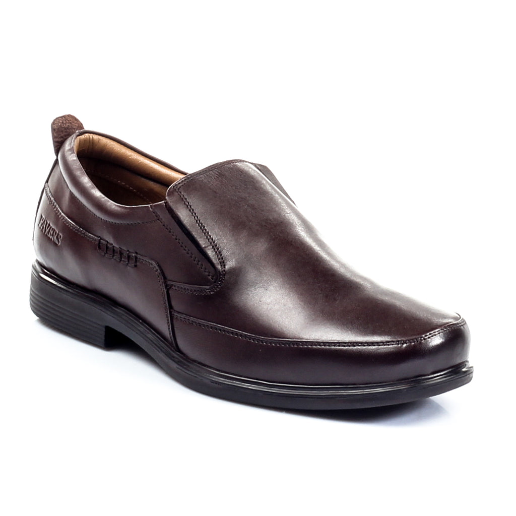 Men's Slip-on Shoe - Brown - Formal Loafers - Pavers England