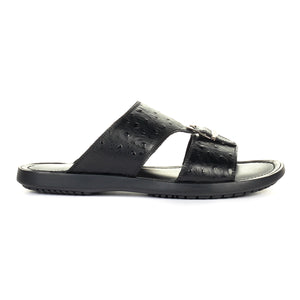 Men's Mules - Black Multi - Open Toe - Pavers England