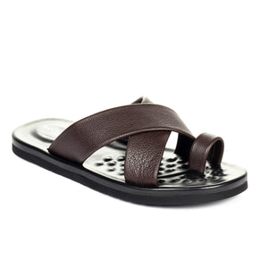 Men's Slip-on Casual Sandals - Brown - Open Toe - Pavers England