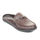 Trendy Casual Leather Mules - Brown - Smart Casuals - Pavers England