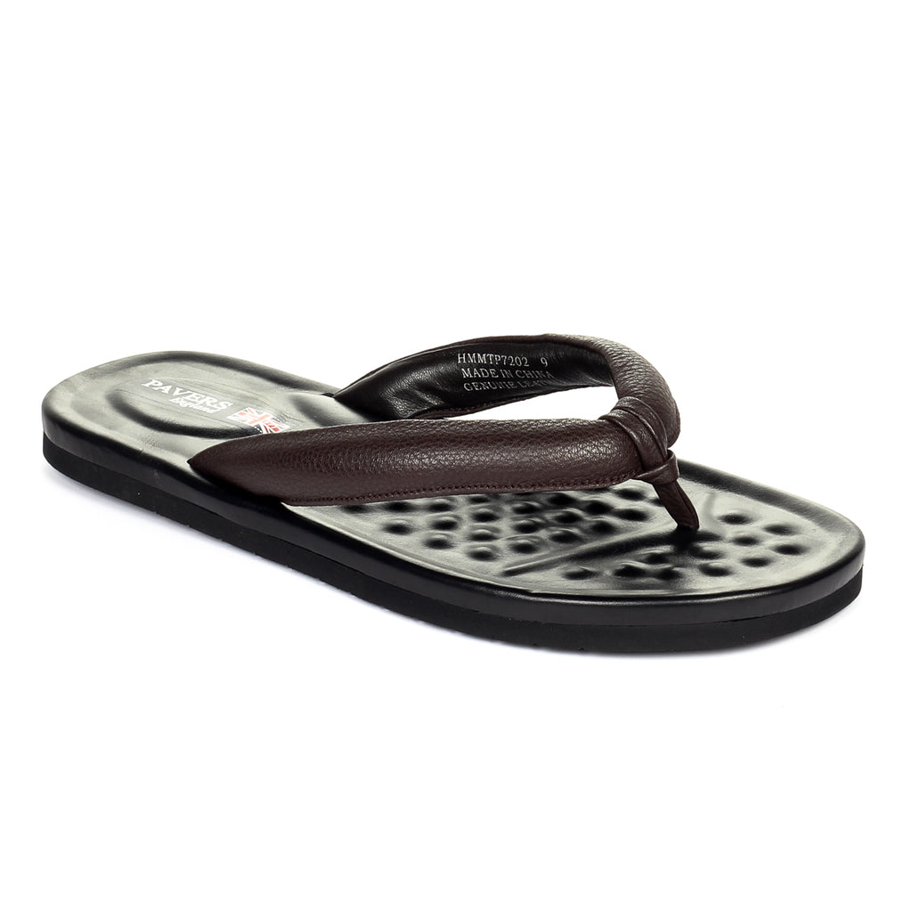 Men's Toepost - Brown - Open Toe - Pavers England