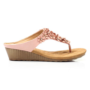 Toepost Wedges with Blings for Women-Pink - Toeposts - Pavers England