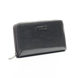 Textured Casual Wallet for Women-Grey - Bags & Accessories - Pavers England