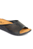 Leather Mules for Women - Black - Open Mules - Pavers England