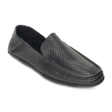 Laser Cut Loafers for Men - Black - Comfort Fits - Pavers England