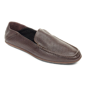 Laser Cut Loafers for Men-Brown - Slip ons - Pavers England
