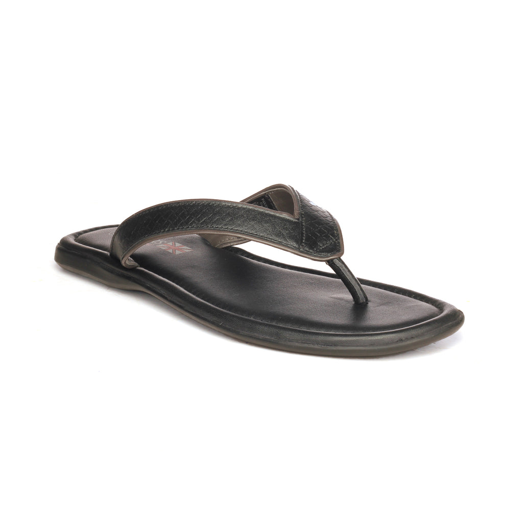 Comfortable Black Leather Slippers