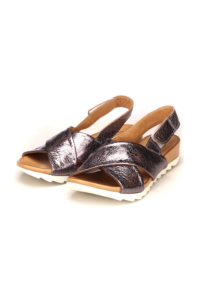 Women's Sandal - Pewter - Sandals - Pavers England