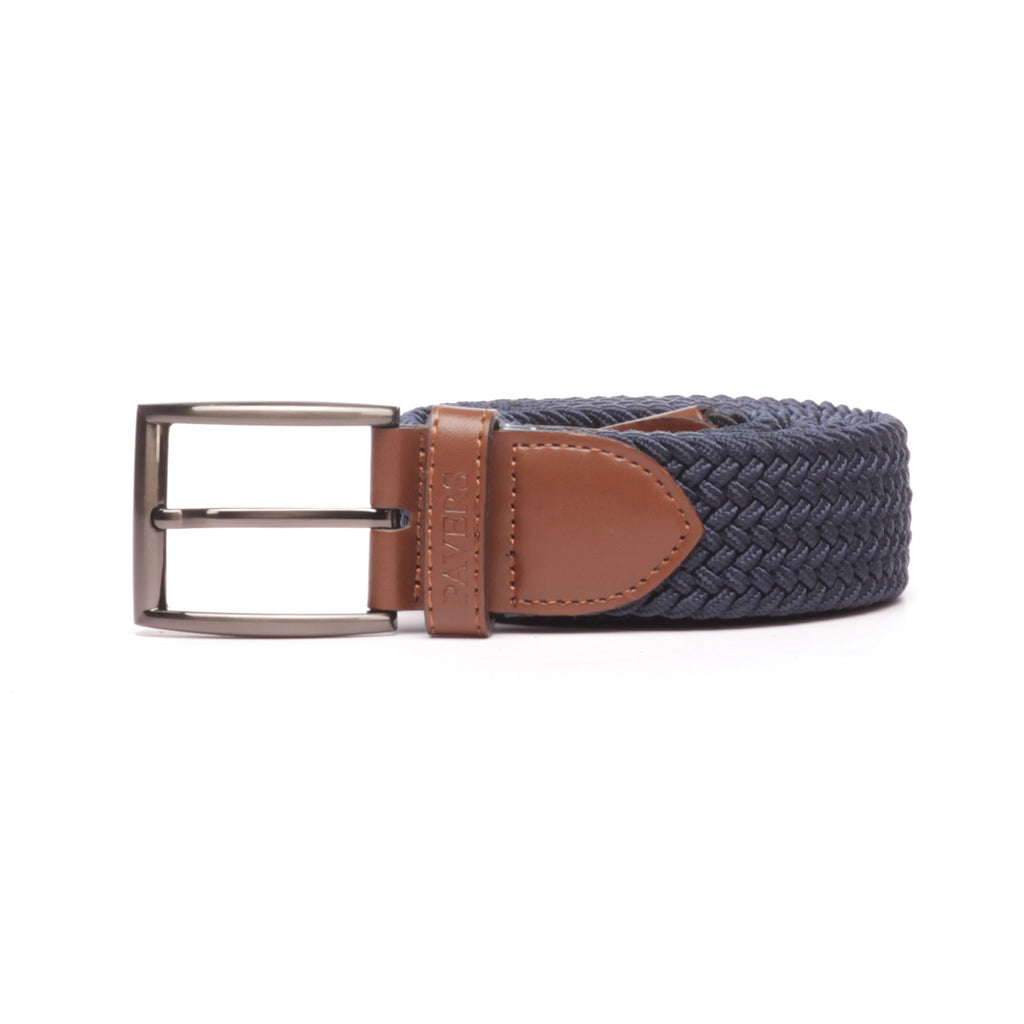 Men's Perforated Casual Belt-Navy - Belts - Pavers England